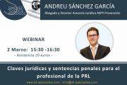 Webinar: Claves jurídicas y sentencias penales para el profesional de la PRL
