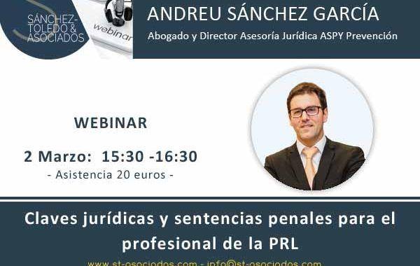 Webinar: Claves jurídicas y sentencias penales para el profesional de la PRL #HOYESELDIA