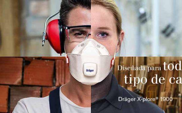 Máxima protección respiratoria con la mascarilla X-plore 1900 de Dräger