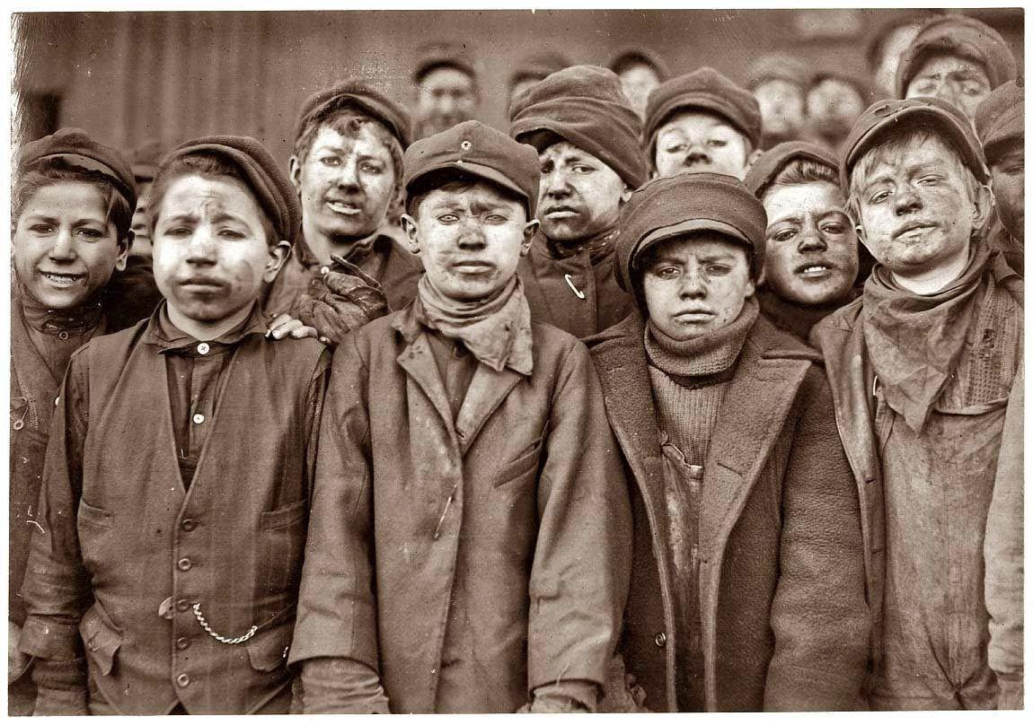 Fotos de Niños Trabajadores que cambiaron Leyes