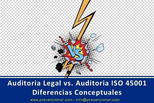Auditoria Legal vs. Auditoria ISO 45001: Diferencias Conceptuales