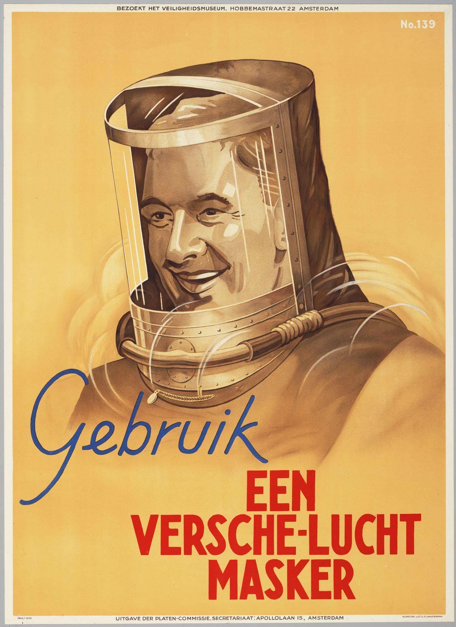 Colección posters antiguos de riesgos laborales de Holanda (II)