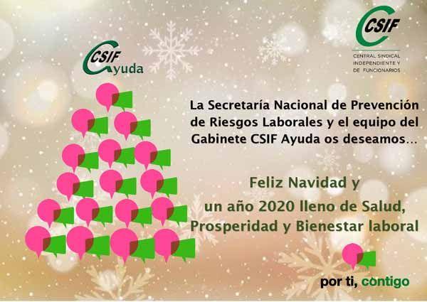 Feliz Navidad y un año 2020 lleno de Salud, Prosperidad y Bienestar Laboral: CSIF PRL