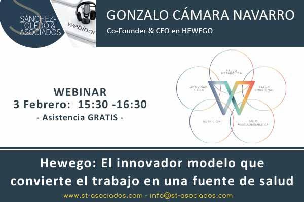 3 febrero - Hewego, el innovador modelo que convierte el trabajo en una fuente de salud #Webinar