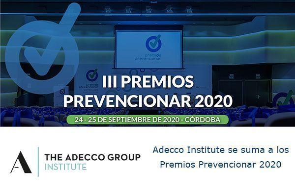 Adecco Institute se suma a los Premios Prevencionar 2020