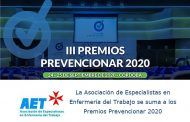La Asociación de Especialistas en Enfermería del Trabajo se suma a los Premios Prevencionar 2020