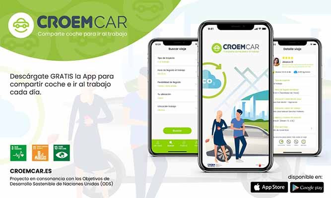 CROEMCAR la nueva APP para fomentar el uso del coche compartido en el trabajo