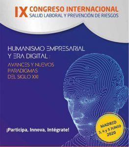 IX CONGRESO INTERNACIONAL DE SALUD LABORAL Y PREVENCION DE RIESGOS