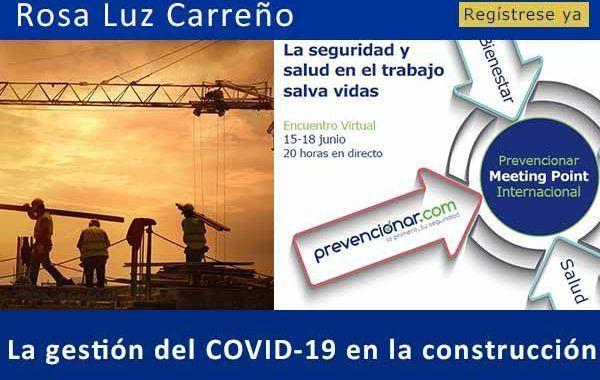La gestión del COVID-19 en la construcción #webinar