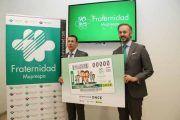 Fraternidad-Muprespa y ONCE presentan un cupón conmemorativo del motivo del 90 aniversario de la Mutua