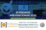 RISK XXI – Prl & Services Patrocinador PLATA de los Premios Prevencionar 2020