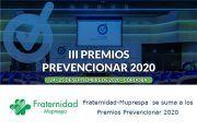 Fraternidad-Muprespa se suma a los Premios Prevencionar 2020