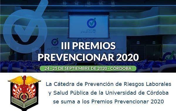La Cátedra de PRL y Salud Pública de la UCO se suma a los Premios Prevencionar 2020