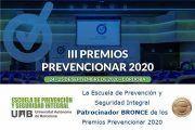 La Escuela de Prevención y Seguridad Integral Patrocinador BRONCE de los Premios Prevencionar 2020