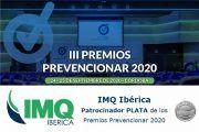 IMQ Ibérica Patrocinador PLATA de los  Premios Prevencionar 2020