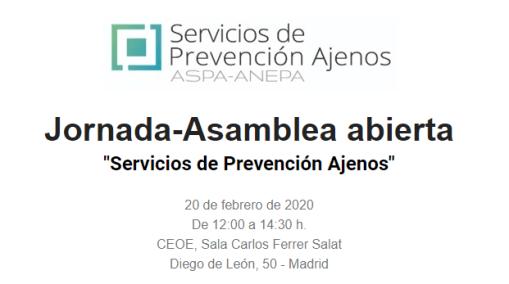 "Jornada-Asamblea abierta ""Servicios de Prevención Ajenos"""
