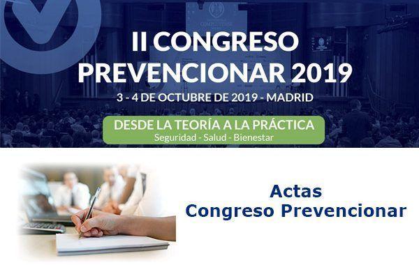 Actas del II Congreso Prevencionar 2019