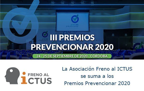 La Asociación Freno al ICTUS se suma a los Premios Prevencionar 2020