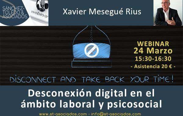 Webinar: Desconexión digital en el ámbito laboral y psicosocial
