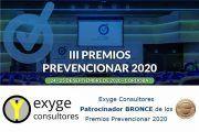 exYge Consultores Patrocinador BRONCE de los Premios Prevencionar 2020