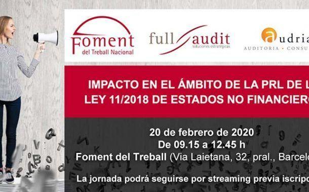 Impacto en el ámbito de la PRL de la ley 11/2018 de estados no financieros