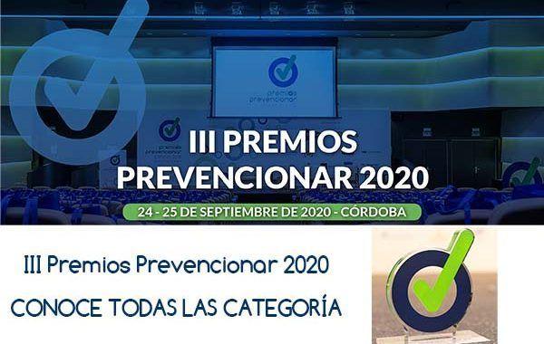 III Premios Prevencionar 2020: CONOCE TODAS LAS CATEGORÍA