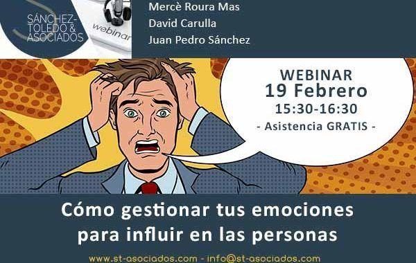 WEBINAR: Cómo gestionar tus emociones para influir en las personas #Gratis