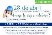 Prevencionar celebra 1 semana llena de webinars para conmemorar el Día Mundial de la Seguridad y Salud en el Trabajo