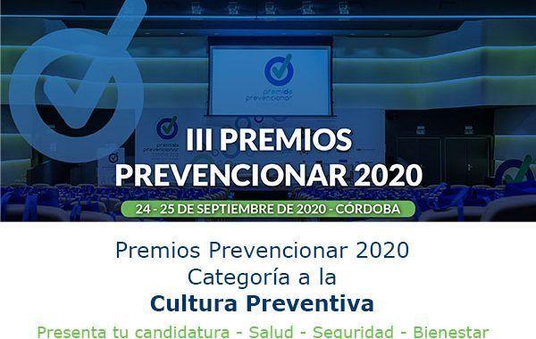 Premios Prevencionar 2020: Categoría a la Cultura Preventiva- Presenta tu candidatura