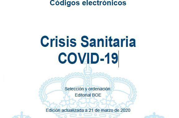 Códigos electrónicos: Crisis Sanitaria COVID-19