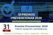 Cierre candidaturas Premios Prevencionar - 31 de Julio