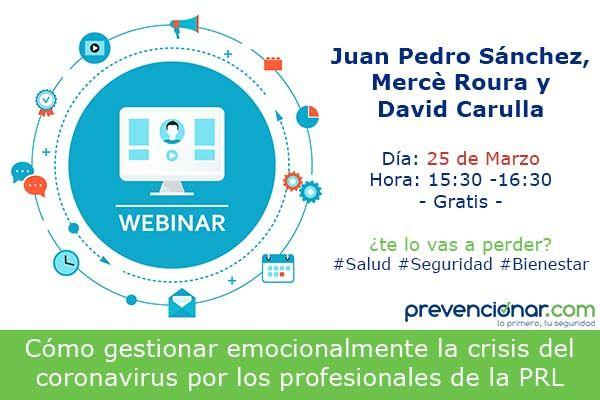 webinar nuevas formas de formación en prevención de riesgos laborales