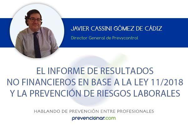 El informe de resultados no financieros y la Prevención de Riesgos Laborales