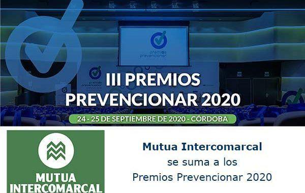 Mutua Intercomarcal se suma a los Premios Prevencionar 2020