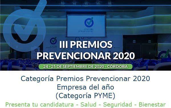 Premios Prevencionar 2020: ¿te gustaría ser la PYME del año? - Presenta tu candidatura
