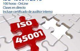 Curso Auditor Líder ISO 45001 - Inicio 6 de octubre