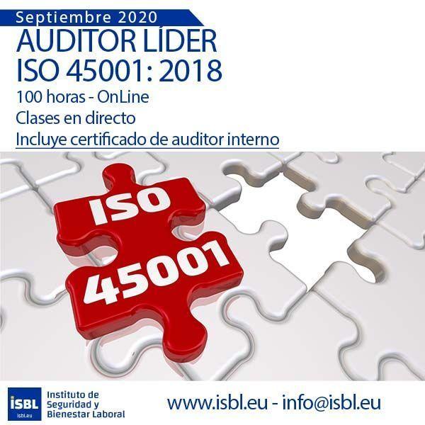 Curso Auditor Líder ISO 45001