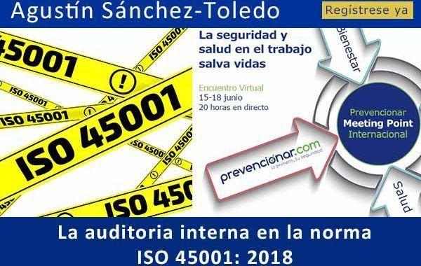 La auditoría interna en la norma ISO 45001: 2018 #webinar