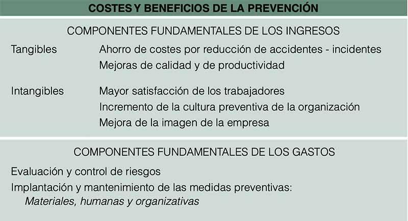 cOSTES y BENEFIcIOS DE LA PREVENcIóN