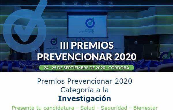Premios Prevencionar 2020: Categoría Investigación- Presenta tu candidatura
