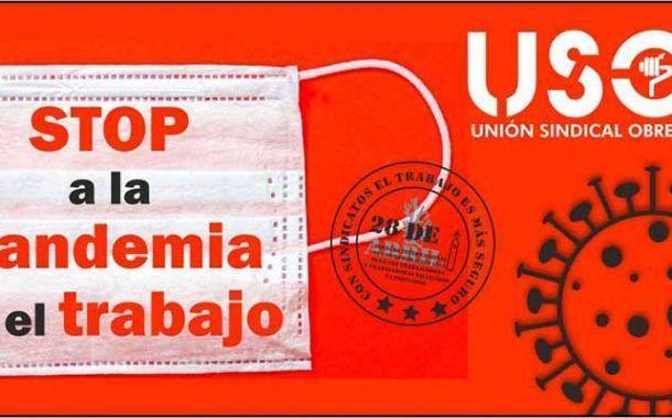 USO lanza la campaña `STOP a la pandemia en el trabajo´
