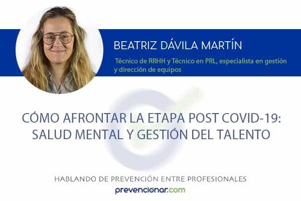 Cómo afrontar la etapa post covid-19: salud mental y gestión del talento