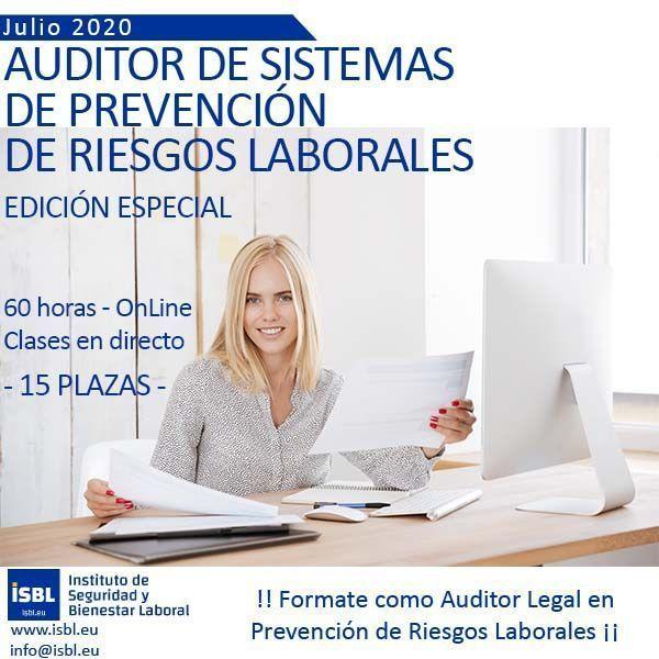 Fórmate como Auditor Legal de Prevención de Riesgos Laborales