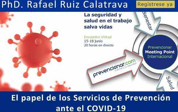 El papel de los Servicios de Prevención ante el COVID-19