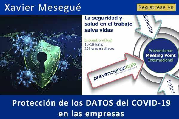 Protección de los DATOS del COVID-19 en las empresas #webinar