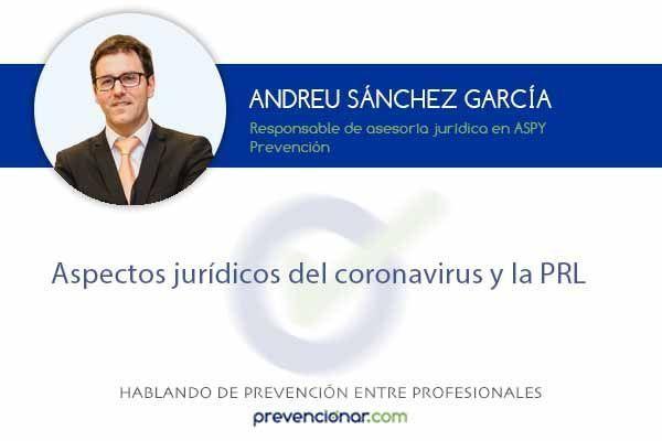 Aspectos jurídicos del coronavirus y la PRL