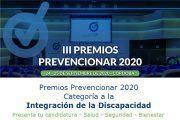 Premios Prevencionar 2020: Categoría Integración de la Discapacidad - Presenta tu candidatura