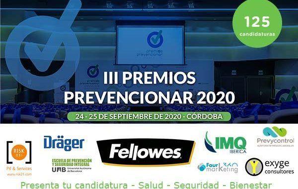 Más de 125 candidaturas recibidas hasta la fecha para los III Premios Prevencionar
