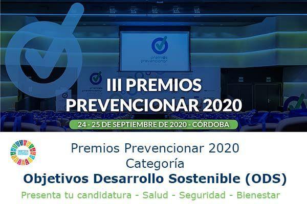 Premios Prevencionar 2020: Categoría ODS- Presenta tu candidatura