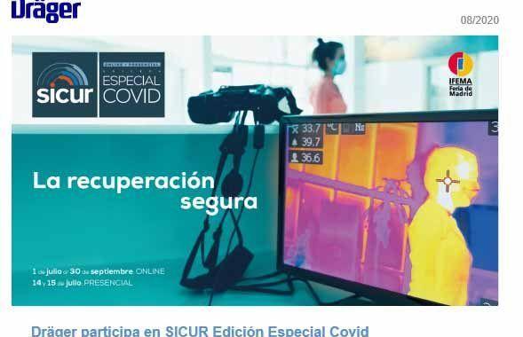Dräger expositor en SICUR Edición Especial Covid